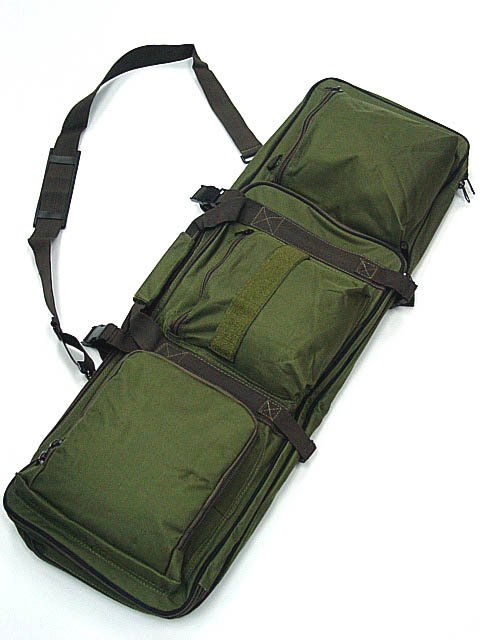 Tactical Rifle AEG Carrying Case Airsoft Gun Bag OD #B