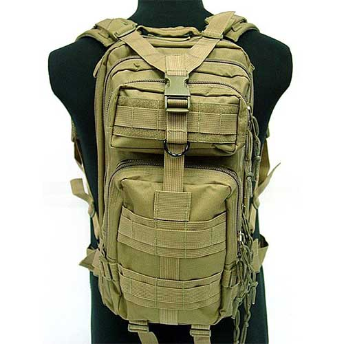 3L Level Molle Pack Tactical Backpack Assault Sport Nylon Backpac DE
