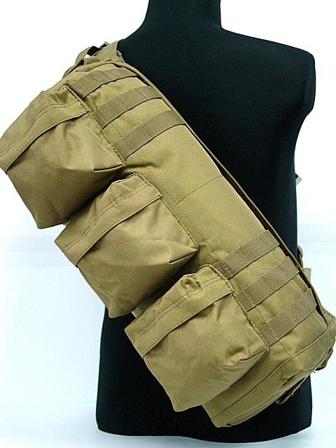 Tactical Packs Shoulder Sling Army Pack Bag Coyote Brown
