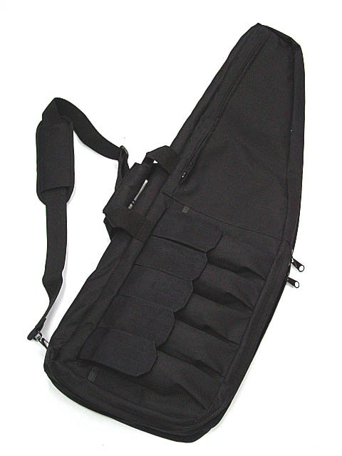 "Gun bag black GP 41"" dual layer rifle carrying case"