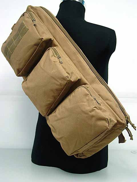 Rifle Gear Shoulder Sling Bag 24 inch Backpack Coyote Brown
