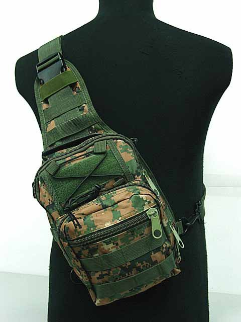 3-Way Military molle packs Shoulder Sling Bag Digital Woodland S