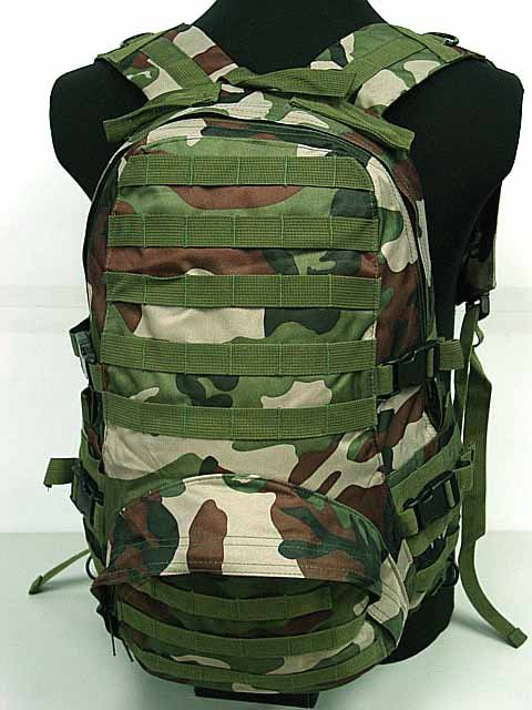 Level 3 Assault Backpack for airsoft Camo Woodland