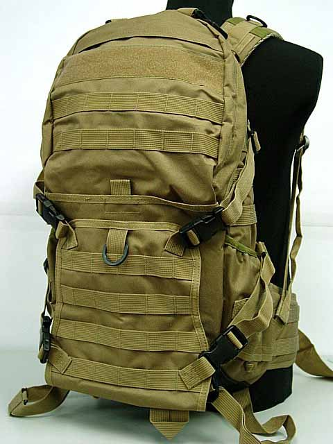 Tactical Rifle Gear Backpack 3 Molle Patrol Coyote Brown