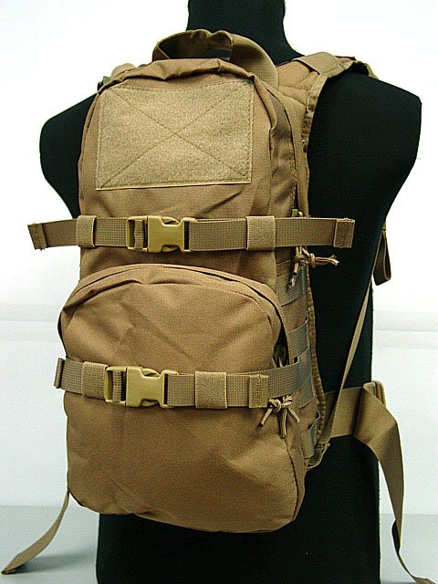 Tactical Backpack Utility 3L Hydration Coyote Brown