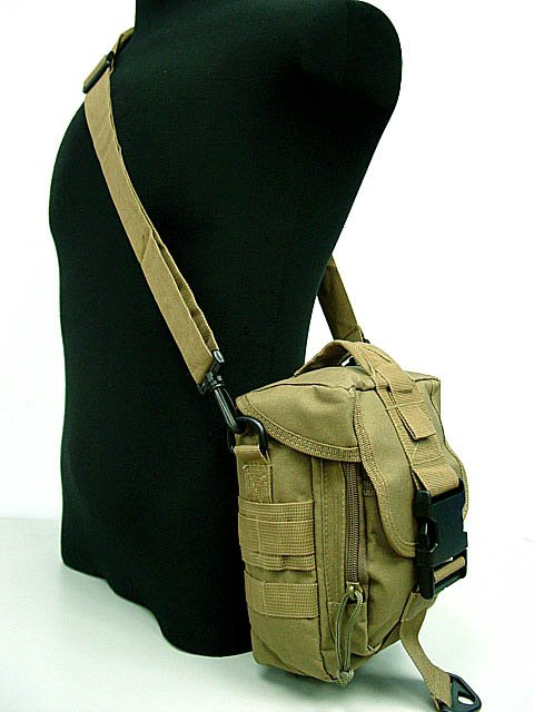 Airsoft Pouch Molle Shoulder Bag Tools Mag Sport Drop Pouch DE
