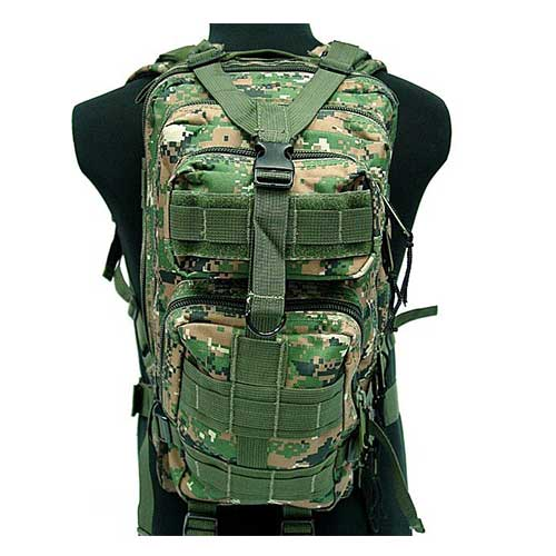 3L Convenient 3 Molle Assault Backpack Digital Camo Woodland