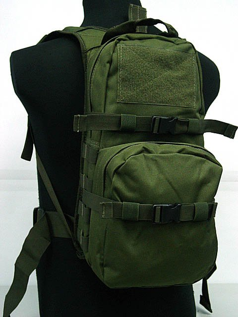 Tactical military molle 3L Hydration Water Backpack OD