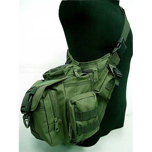 Messenger Bag Tactical Shoulder Pack Utility Gear Sling Bag OD
