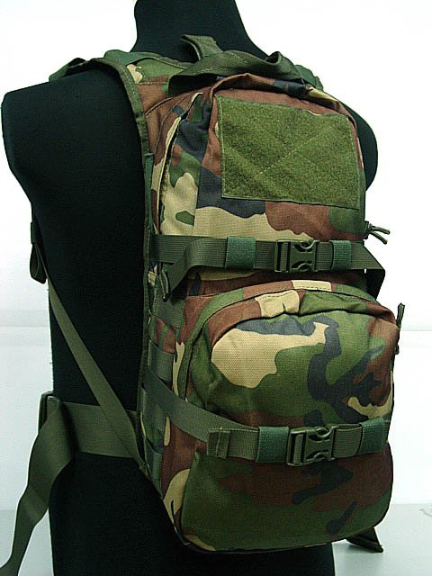 Tactical Gear 3L Hydration Backpack Camo Woodland