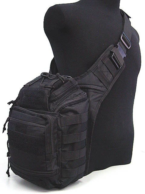Tactical Gear Molle Shoulder Bag Breathable Multi Purpose Bags BK