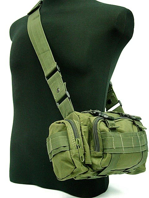 Airsoft Mix Molle Utility Tactical Hunting Waist Pouch Bag Pack OD