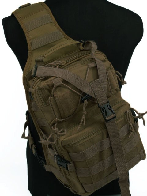 Airsoft Outdoor Durable Tactical Utility Gear Sling Bag Backpack DE