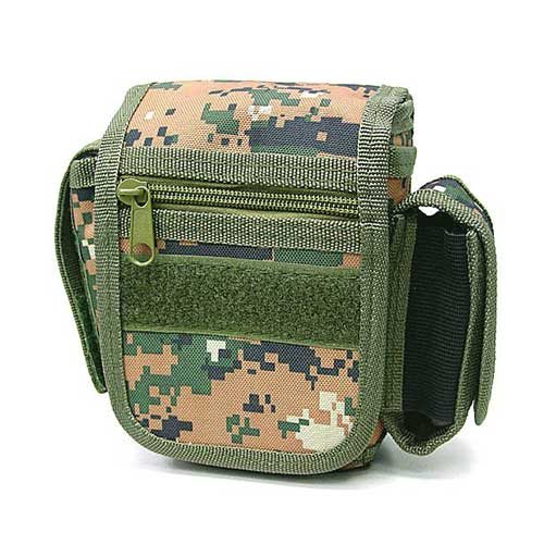 Practical Waist Pouch Digital Camo Woodland Carrier Bag