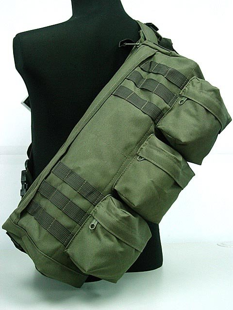 Airsoft rifle Molle Bag Tactical Shoulder Sling Go Pack Gym Hiking