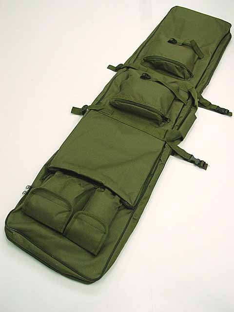 48 inch Tactical Rifle Carrying Case Gun Bag Sniper AEG SWAT Dual OD