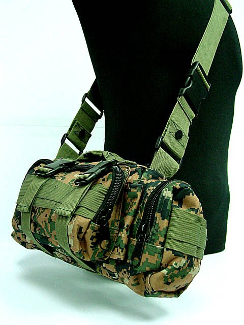 Airsoft Mix Molle Practical Waist Pack Assault Bags Camo Woodland