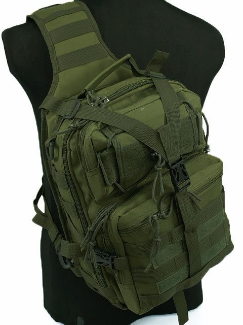 Airsoft Outdoor Tactical Utility Gear Sling Bag Shoulder Backpack OD