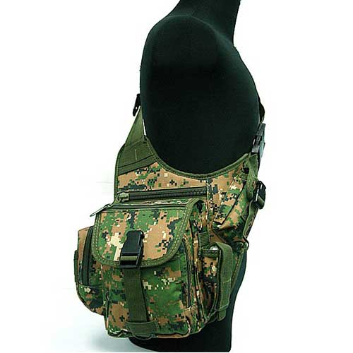 Military Tactical Shoulder Bag Utility Pouch Nylon Bags Woodland