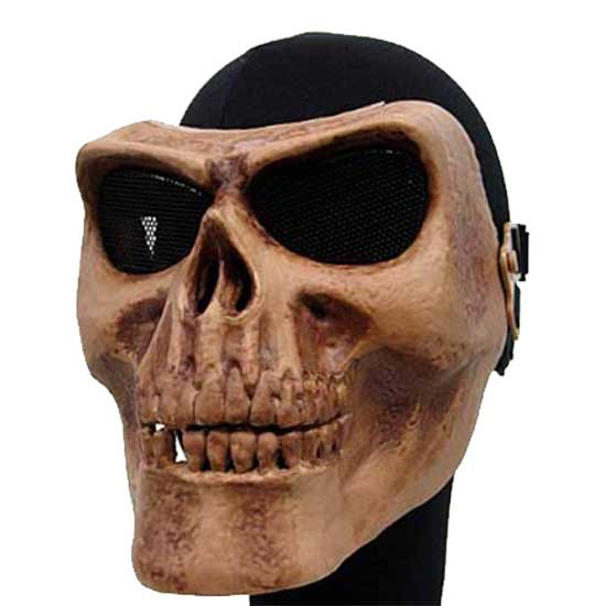 Cool Seal Skull Skeleton Full Face Protector Mask Brown