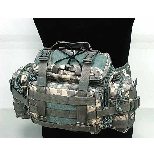 Molle Tactical Gear Assault Waist Pouch Bag Digital camo