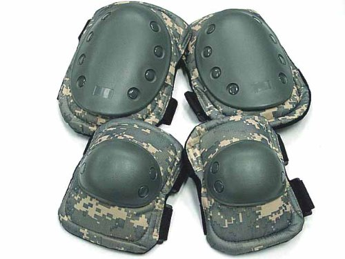 Adjustable Skateboard Paintball Digital Camo Knee & Elbow Pads ACU