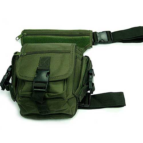 Multifunction Drop Leg Airsoft Utility Waist Pouch Carrier Bag OD US