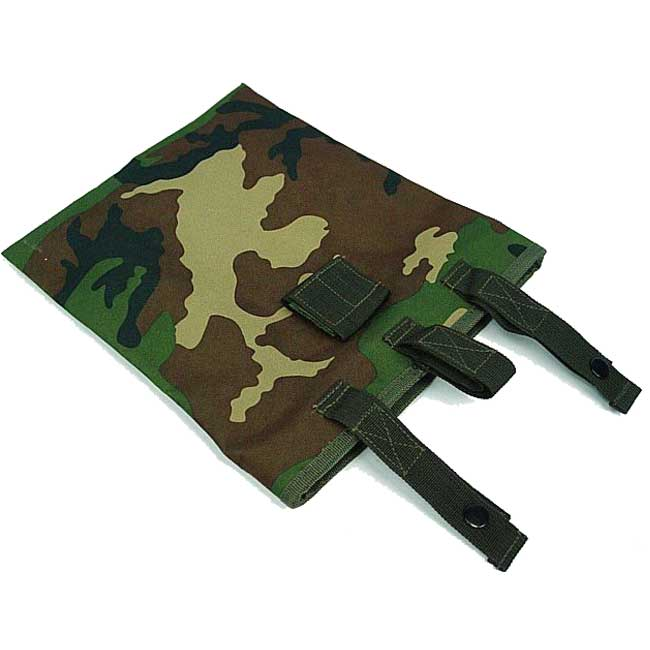 Camo Woodland Magazine Mag Drop Pouch Bag With US SWAT