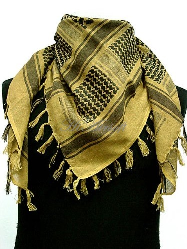 Arab SAS Shemagh Kafiya Scarf Mask Desert Tan with US SWAT