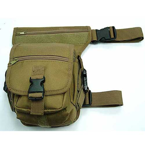 Drop Leg Airsoft Waist Pouch Carrier Bag Coyote Brown