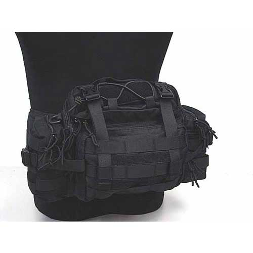 Molle Tactical Gear Utility Assault Waist Pack Nylon Pouch Bag BK
