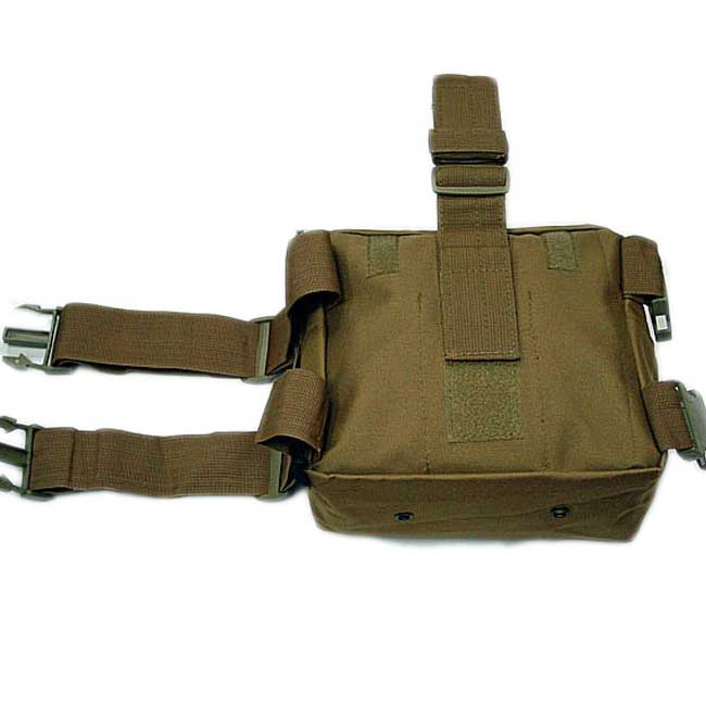 Utility Pouch Bag US Molle Drop Leg Panel Coyote Brown
