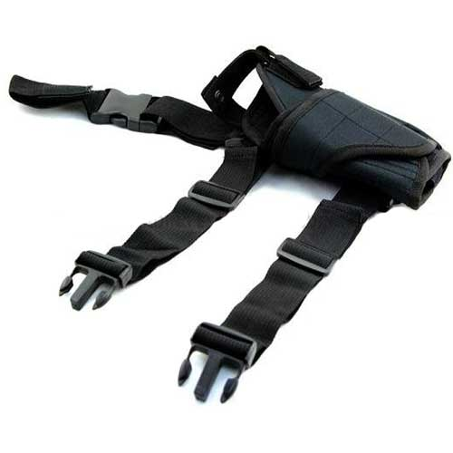 Airsoft Tornado Tactical Drop Leg Holster Pistol Mag Adjustable BK