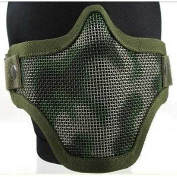 Airsoft Pro Deluxe Metal Mesh Mask Tactical Protect Masks OD Camo