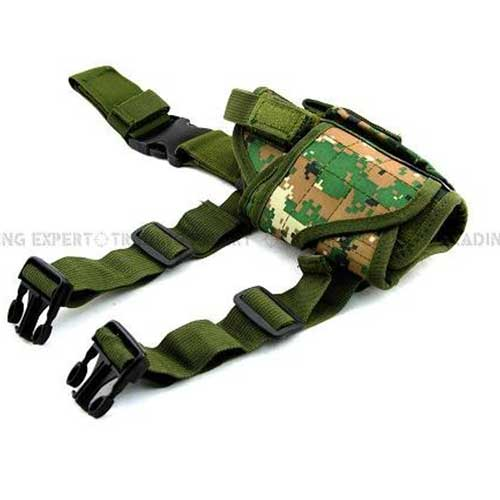 Airsoft Tactical Tornado Leg Holster Drop Leg Pistol Mag Holder Camo