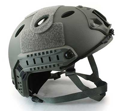 Fast Base Jump Helmet Navy Seal Carbon Shell Grey H