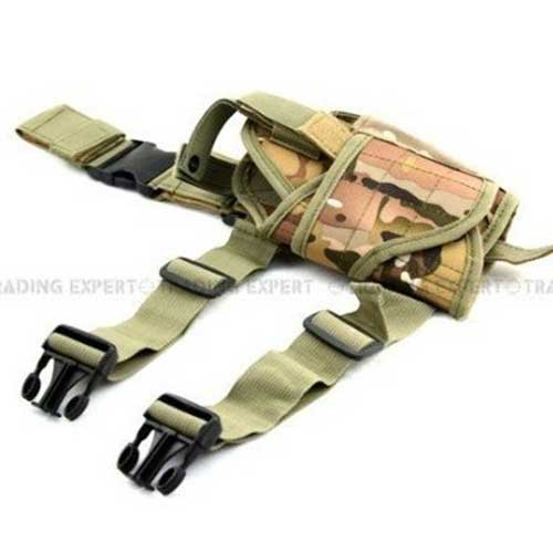 Airsoft Tactical Tornado Leg Holster Drop Leg Pistol Mag Holder CP
