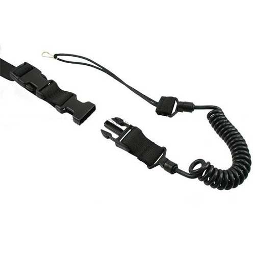 Quick Release Tactical Pistol Sling Lanyard Black MS System Safe BK