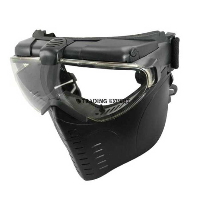 Electric Turbo Fan Full Face Mask (Black) Z6017B