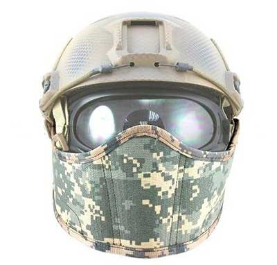 1000D Nylon Face Cover for Airsoft Fast Helmet (ACU)