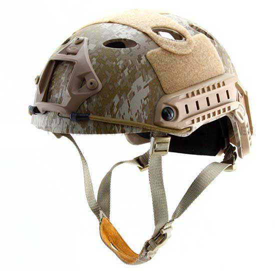 Fast Base Jump Helmet Navy Seal Carbon Shell Digital Desert Camo