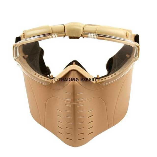 Electric Turbo Fan Full Face Mask (tan) Z6017D