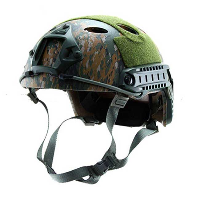 Fast Base Jump Navy Seal Helmet Carbon Shell Woodland Digital