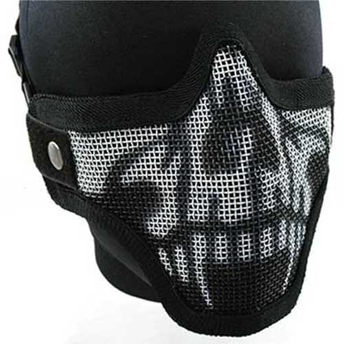 Airsoft Pro Deluxe Half Face Metal Mesh Tactical Protect Mask W Camo