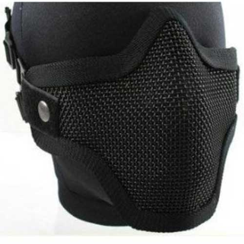 Airsoft Pro Metal Mesh Steel Wire Mask Paintball Protective Mask BK