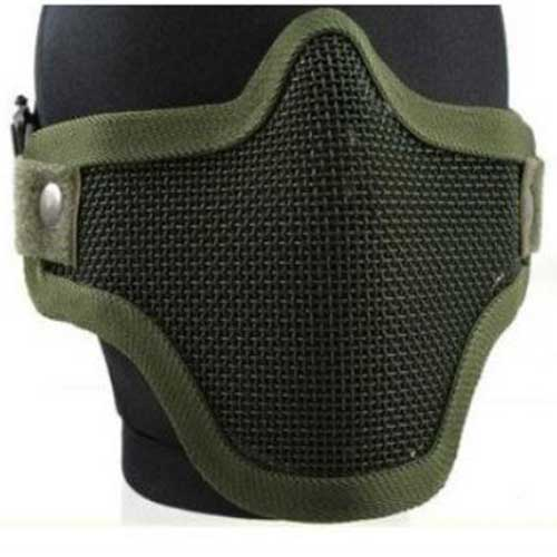 Airsoft Pro Metal Mesh Steel Wire Mask Tactical Protective Mask OD