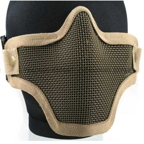 Airsoft Pro Metal Mesh Steel Wire Mask Paintball Protective Mask DE