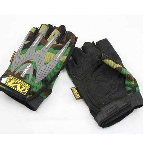 Mechanix M-Pact Mechanics Half Finger Gloves Green Camo