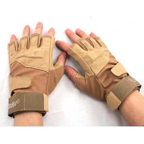 BlackHawk Tactical Duty Gloves Tan Half Finger Real Quality Military