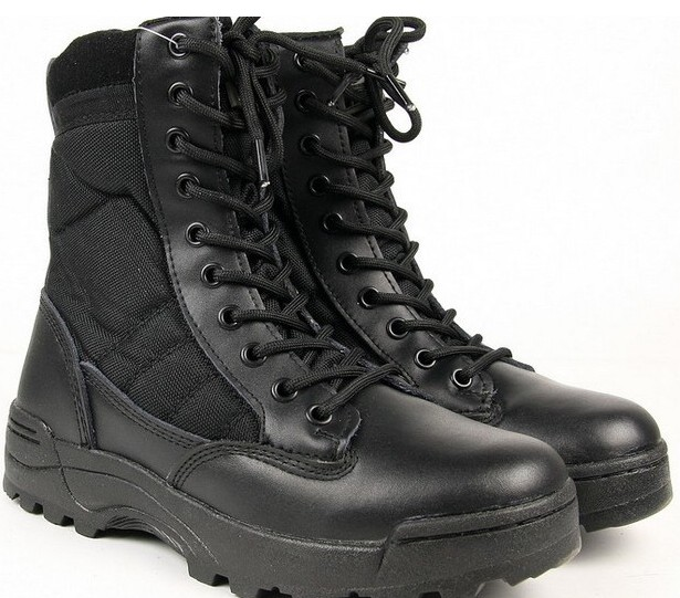 Outdoor Tactical Shoes Climbing Military Comfortable Shoes Black